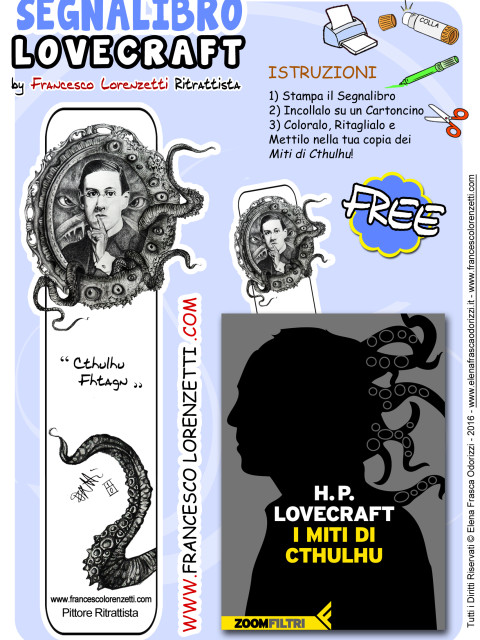 segnalibro_bookmark_printable_lovecraft_francesco_lorenzetti_ritrattista