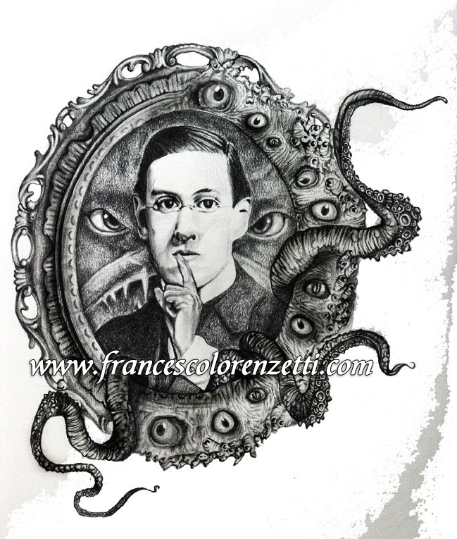 ritratto_matita_Lovecraft_dagon