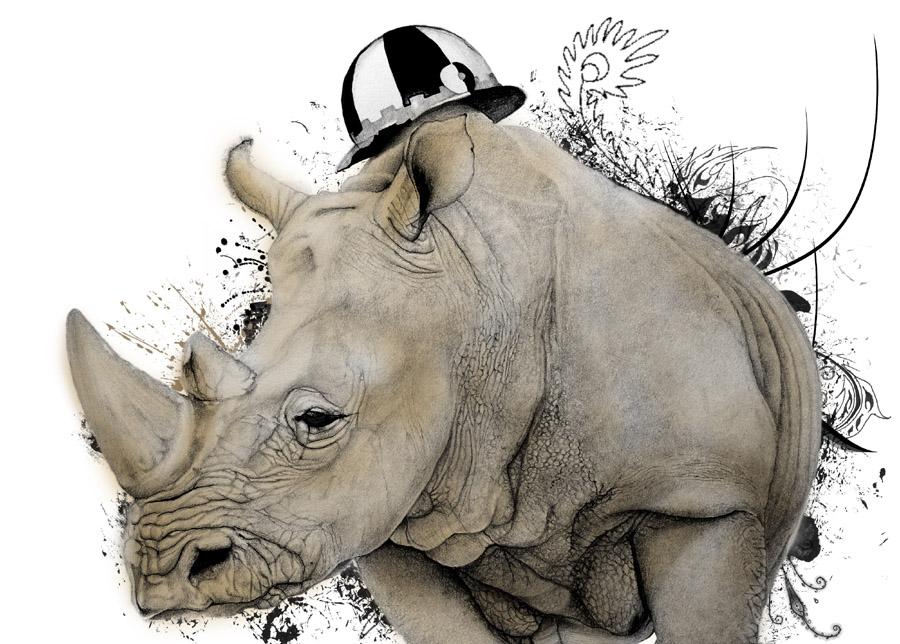 ritratto_rinoceronte_contrada_selva