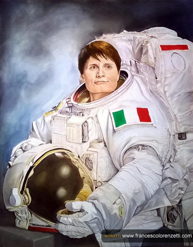 ritratto_a_olio_samantha_cristoforetti_astronauta