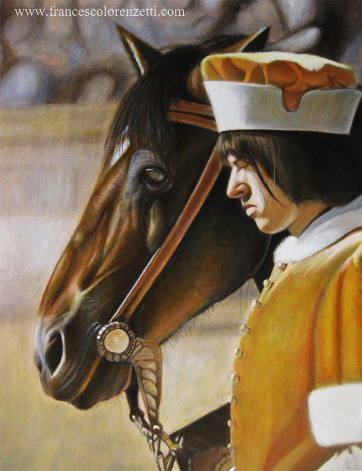 dipinto_a_olio_palio_di_siena_cavallo_contrada_leocorno_vendita